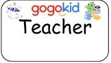 Gogokid Teacher Nametag