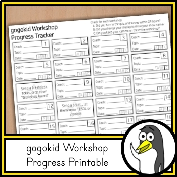 Gogokid Workshop Progress Tracker - A FREE Tool for Teachers