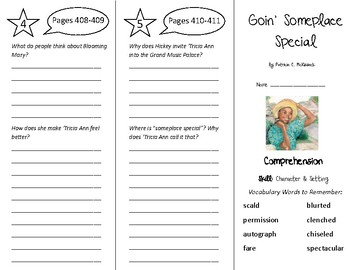 Goin' Someplace Special Trifold - Treasures 5th Grade Unit 4 Week 1 (2009)