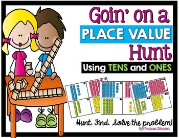 Place Value Task Cards: Goin' on a Place Value Hunt
