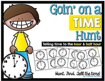 Time Task Cards: Goin' on a Time Hunt