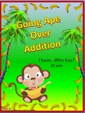 Going Ape over Addition- I have...Who has...- 11 sets of cards