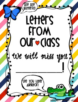 Going Away Letters - Moving Student Gift - Book