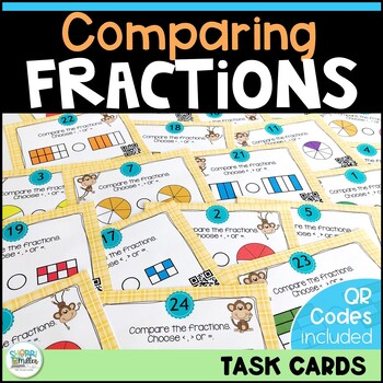 Going Bananas Over Comparing Fractions Task Cards