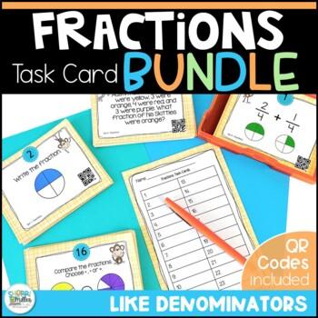 Going Bananas Over Fractions Task Cards BUNDLE