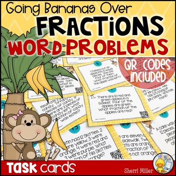 Going Bananas Over Fractions Word Problems Task Cards