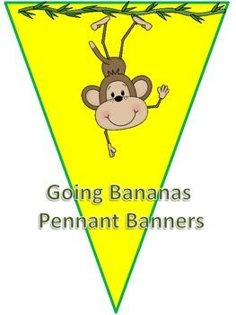 Going Bananas Pennant Banners