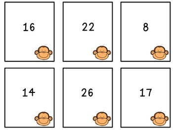 Going Bananas Place Value Memory Game