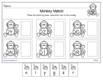 Going Bananas for Letters - Letter Identification Centers and Worksheets