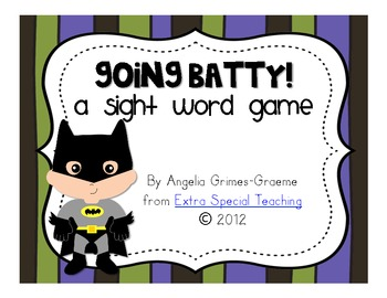Going Batty - A Sight Word Game