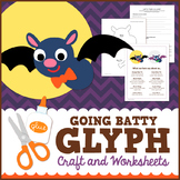 Halloween Bat Glyph Craft and Worksheets
