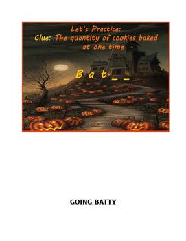 Going Batty Halloween Vocabulary