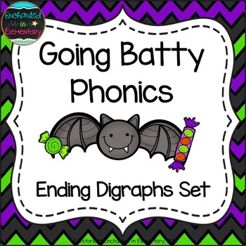Going Batty Phonics: Ending Digraphs Pack