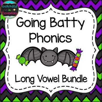 Going Batty Phonics: Long Vowel Bundle