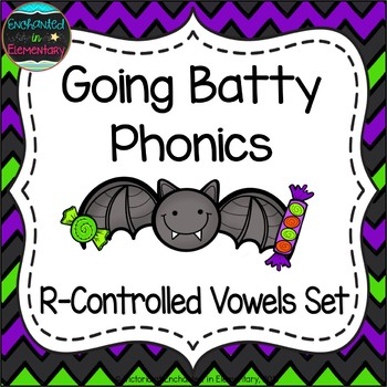 Going Batty Phonics: R-Controlled Vowel Words Pack
