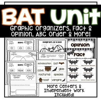 Going Batty {Science, Math & Literacy)