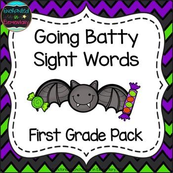 Going Batty Sight Words! First Grade List Pack