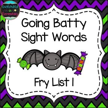 Going Batty Sight Words! Fry List 1