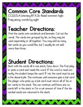 Going Batty Sight Words! Pre-Primer List Pack