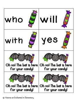 Going Batty Sight Words! Primer List Pack