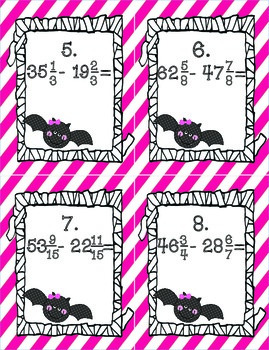Going Batty for Borrowing {Subtracting Fractions}