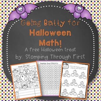 Going Batty for Halloween Math! {A FREE Halloween treat}