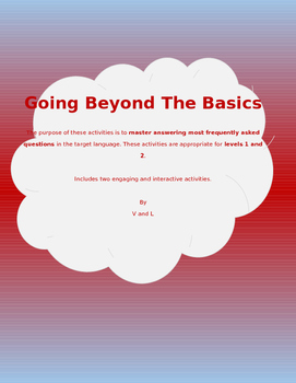 Going Beyond the Basics - English Version (Speaking Activity)