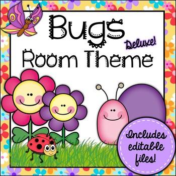 Bugs Room Theme Classroom Decor {Editable}