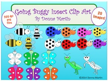 Going Buggy Spring Insect Clip Art Set