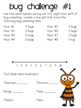 Going Buggy! ~ Practice Line Plots with Bug Collecting Data!