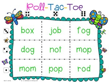 Going Buggy Spring  Tic Tac Toe Games Short O Freebie