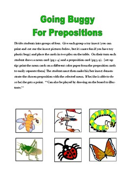 Going Buggy for Prepositions