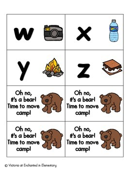 Going Camping Alphabet! Letter and Sound Recognition Game