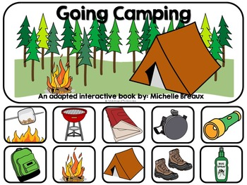 Going Camping--An Adapted Book {Special Education, Autism, SLP}