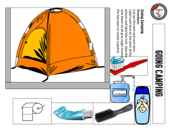 Going Camping Interactive Notebook Page