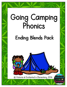 Going Camping Phonics: Ending Blends Pack