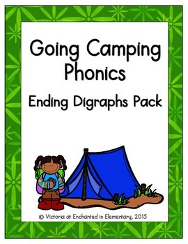 Going Camping Phonics: Ending Digraphs Pack