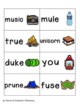 Going Camping Phonics: Long U Pack