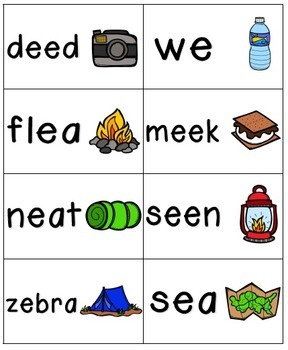 Going Camping Phonics: Long Vowel Bundle