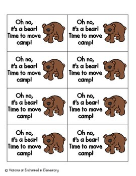 Going Camping Phonics: Vowel Digraphs and Diphthongs Pack 1: ow, ou, oo, ew
