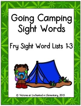 Going Camping Sight Words! Bundle of Fry Lists 1-3