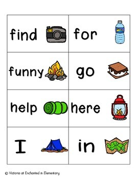 Going Camping Sight Words! Complete Set of 220 Sight Words
