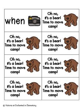 Going Camping Sight Words! First Grade List Pack