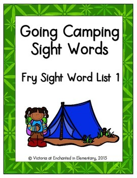 Going Camping Sight Words! Fry List 1