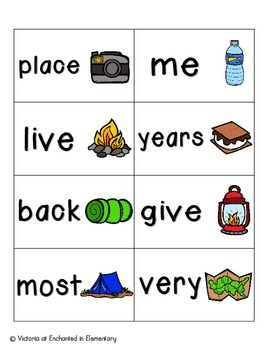 Going Camping Sight Words! Fry List 2