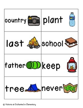 Going Camping Sight Words! Fry List 3