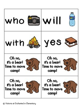 Going Camping Sight Words! Primer List Pack