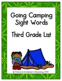 Going Camping Sight Words! Third Grade List Pack