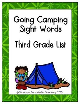 Going Camping Sight Words! Third Grade List Pack