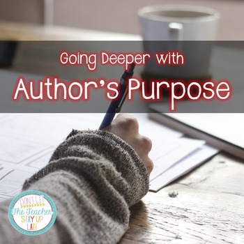 Author's Purpose - Going Deeper